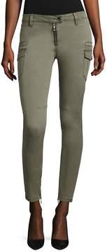 RtA Women's Presley Cargo Skinny Jeans - Light Army, Size 28 (4-6)