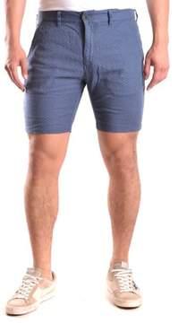 Selected Men's Blue Linen Shorts.