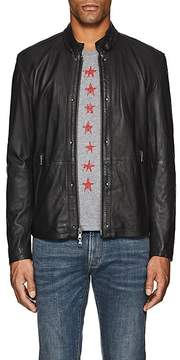 John Varvatos Men's Leather Racer Jacket