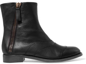 Chloé Lexie Textured-leather Ankle Boots - Black