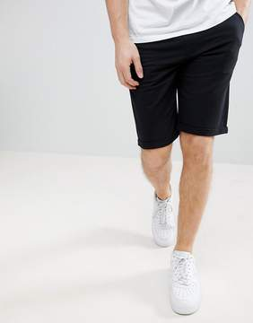 Solid Slim Fit Jersey Short In Black