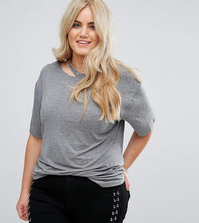 Alice & You Relaxed T-Shirt With Cut Out Collar