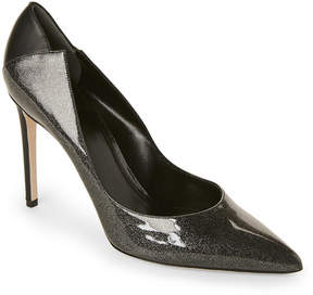 Rodo Laminated Glitter Pointed Toe Pumps