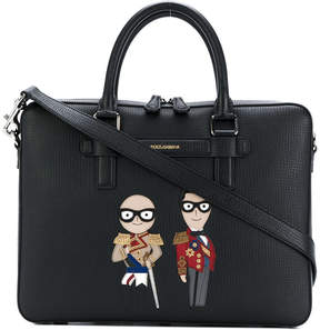 Dolce & Gabbana stylists patch briefcase
