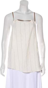 Esteban Cortazar Striped Sleeveless Top