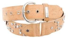 Blumarine Embellished Suede Belt
