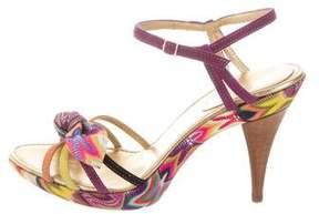 Missoni Chevron Multistrap Sandals