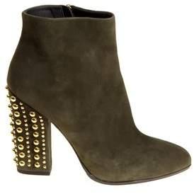 Loriblu Women's Green Suede Ankle Boots.
