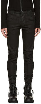 Julius Black Coated Jeans