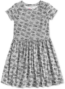 Epic Threads Little Girls Printed Tiger Jersey Dress, Created for Macy's