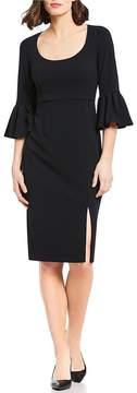 Donna Morgan Bell Sleeve Midi Dress