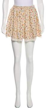 Band Of Outsiders Silk Floral Skirt w/ Tags