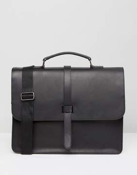 Asos Satchel In Leather Strap Detail