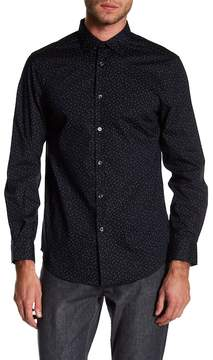 Perry Ellis Patterned Stretch Fit Button Down Shirt