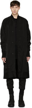 Julius Black Nylon Twill Coat