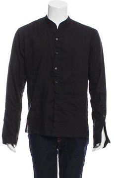 Greg Lauren Linen Patchwork Shirt