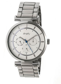 Simplify The 4800 Unisex Silver Tone Bracelet Watch-Sim4801