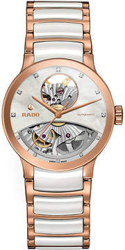 Rado R30248902 Centrix rose gold and mother-of-pearl open heart watch