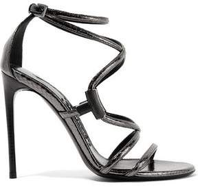 Tom Ford Embellished Glossed-Ayers Sandals