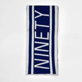 River Island Boys blue knit 'ninety' football scarf