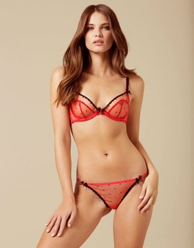 Agent Provocateur Poppie Thong Red And Black