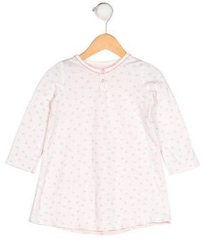 Petit Bateau Girls' Polka Dot Long Sleeve Dress