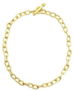 Elizabeth Locke Volterra 19k Gold Link Necklace, 17L