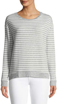 Neiman Marcus Majestic Paris for Striped French Terry Sweatshirt