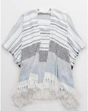 aerie Striped Poncho