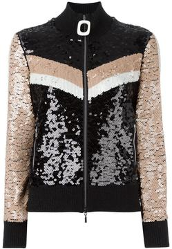 Aviu sequined zipped cardigan