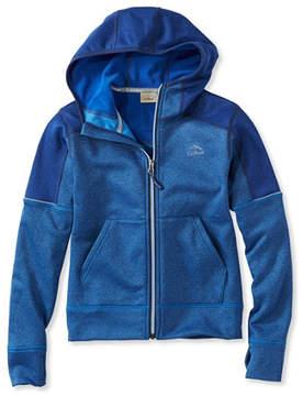 L.L. Bean Boys' Mountain Fleece Hoodie, Full-Zip Colorblock