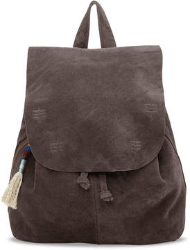 Toms Charcoal Suede Embroidered Poet Backpack