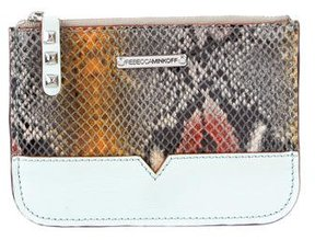 Rebecca Minkoff Embossed Leather Pouch - BLUE - STYLE