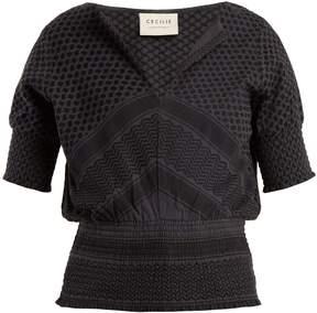DAY Birger et Mikkelsen CECILIE COPENHAGEN Soultice scarf-jacquard cotton top