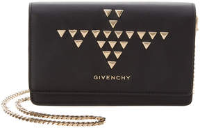 Givenchy Studded Pandora Leather Wallet On Chain