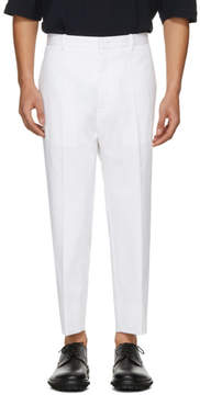Jil Sander White Preston Trousers