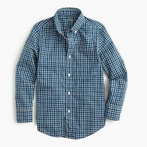 J.Crew Boys' Secret Wash shirt in blue tattersall