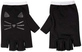 Karl Lagerfeld Choupette Print Cotton Interlock Gloves