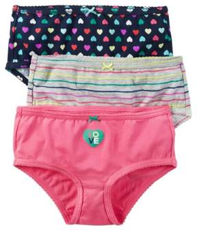 Carter's 3pk girl multi heart and stripe w pink heart Assorted