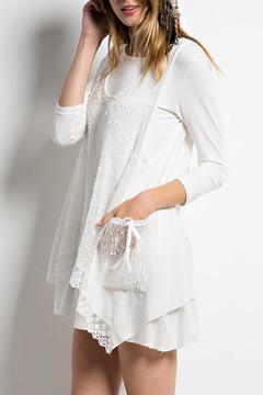 Easel Crochet Vest Tunic