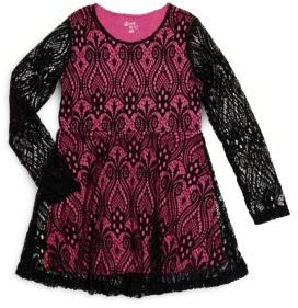 Flowers by Zoe Girl's Roundneck Lace dress