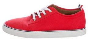 Thom Browne Canvas Low-Top Sneakers