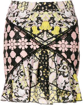 Giamba macrame panel mini skirt