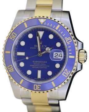 Rolex Submariner 116613 StainlessSteel & 18K Yellow Gold Blue 40mm Mens Watch