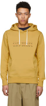 Saturdays NYC Yellow Ditch Strikethrough Hoodie