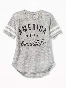 Old Navy Graphic Football Tunic Tee for Girls