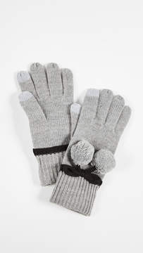 Kate Spade Bow Pom Gloves