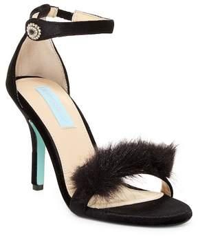 Betsey Johnson Nolte Faux Fur Trim Sandal
