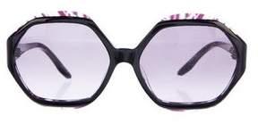 Emilio Pucci Geometric Resin Sunglasses