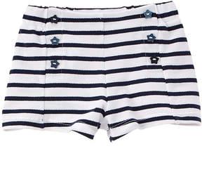 Chicco Girls' Blue & White Striped Short